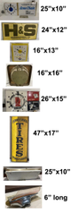 8 Pieces; Sign, Lighted Signs