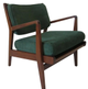 (26746322) Upholstered Walnut Lounge Chair