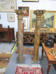 Two wood columns - Live Auctioneers #220