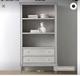2 cribs, bookcase, night stand, dresser, rug