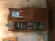 Antique secretary and several banker boxes