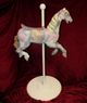 Vintage Carved  Painted Wooden Carousel Horse