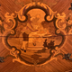 1074 - French Marble Top  Inlaid Demilune commode
