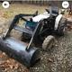 Mitsubishi Mini yard tractor and backhoe