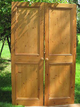 Pair Of Pine Reclaimed Timbered Doors for Wardrobe