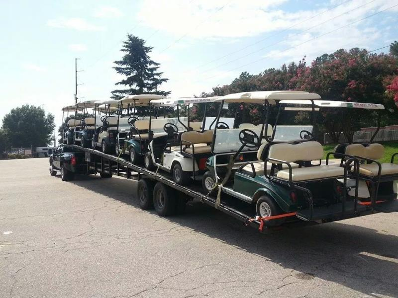 Ship a Truck only ! My 50' wedge trailer with golf carts to Raleigh   uShip