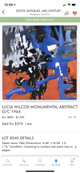 """Large unframed paintings. 90"""" by 68"""" and 68"""" by 68"""
