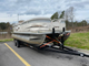 Pontoon boat on trailer  (no engine)