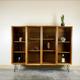 Wood bookcase hutch