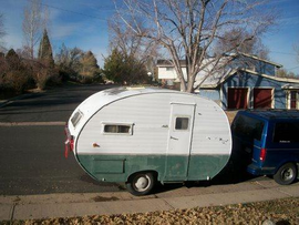 1954 travel trailer  small