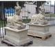 Pair of stone sculptures