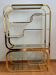 GLASS AND BRASS SHELVES FROM ILLINOIS TO NY