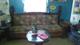 retro pine sofa, chair, end table and ottoman