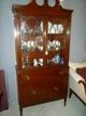 Antique Mahogany CHina Cabinet Small EUC