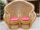 Double Peacock Wicker Chair