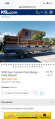 1993 sun tracker party barge