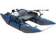 Inflatable pontoon breakdown fishing raft