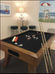 Bumper pool table/pub table/bar stools