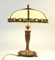 Table Lamp with Slag Shade