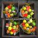 4 boxes fresh vegetables and flowers arrangement