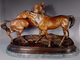 Bronze Sculpture of Two Horses titled Accolade