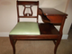 Lyre Harp Telephone Bench Chair table