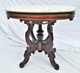 Rosewood Oval Marble Top Table