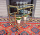 rolling brass and glass cart