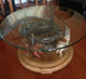 Carousel Cocktail table plus glass top(40