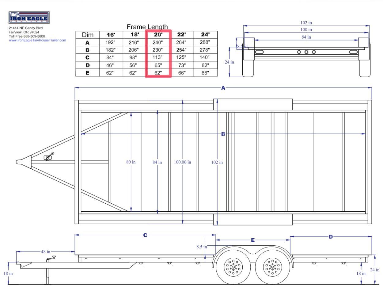iron eagle trailers trailer plug wiring diagram 7 transport my iron eagle pad series 20  tiny house trailer to  transport my iron eagle pad series 20