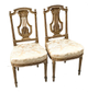 Pair of French Upholstered Chairs from Virginia