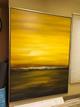 Large framed artwork & bookshelf