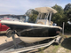 23' Key West center console on trailer