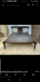 Custom made WOOD Queen bed frame