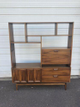 Mid Century Modern Wall Unit With Desk And Shelves
